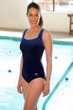 TYR Mantra Blue Plus Size Scoop Neck Controlfit Chlorine Resistant One Piece Swimsuit