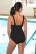 TYR Durafast Elite Square Neck One Piece Chlorine Resistant Swimsuit Black