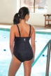 TYR Mantra Black V-Neck Controlfit Chlorine Resistant One Piece Swimsuit