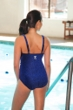 TYR Mantra Blue V-Neck Controlfit Chlorine Resistant One Piece Swimsuit