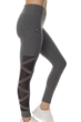 X by Gottex Dark Heather High Waisted Mesh Sides Legging with Pocket