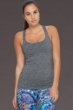 Body Glove Sport Heather Grey Borasco Cross Back Tank Top