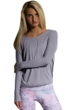 Onzie Stone Gray Drapey V-Back Long Sleeve One-Size-Fits-All Size O/S