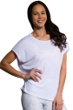 Onzie White Short Sleeve Drop Back Top One-Size-Fits-All Size O/S
