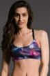 Onzie Fast Flower X-Back Elastic Low Impact Sports Bra