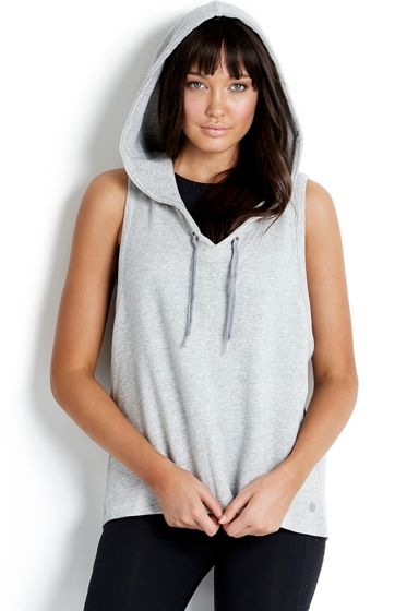 Seafolly Solid Grey Active Cross Back Hoodie