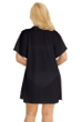 Jordan Taylor Black Plus Size Braided Chevron Button Up Tunic