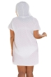 Jordan Taylor Plus Size White Braided Chevron Zip Up Hoodie