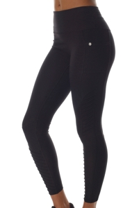 X by Gottex Black High Waisted Moto Legging with Pocket