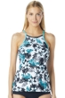 BH Sport Standout Tropical High Neck Strappy Back Tank Top