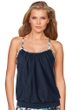 BH Sport Standout Tropical Layered Laser Cut Tank Top with Attached Sports Bra