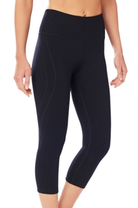 Shape Black High Rise SS Capri Legging
