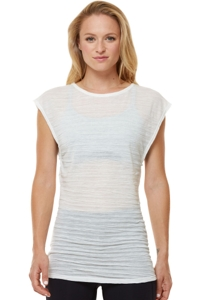 Shape Winter White Twist Athletic Tank Top