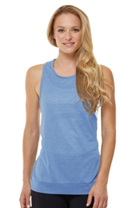 Shape Tile Blue Boost Muscle Tank Top