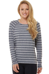 Shape Heather Grey Stripe Long Sleeve Tee
