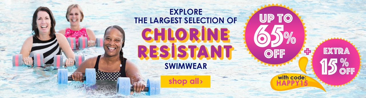 Up to 65% Off Chlorine Resistant Swimwear + EXTRA 15% OFF