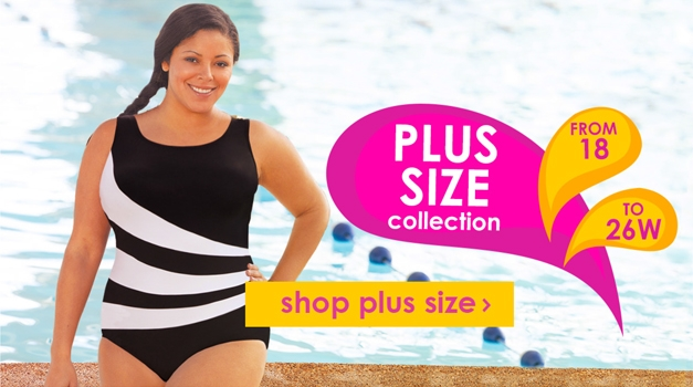 Plus Size Chlorine Resistant Swimwear - Up to 65% OFF