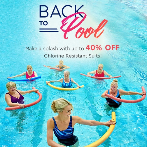 Save Up To 40% Off Chlorine Resistant Swimwear