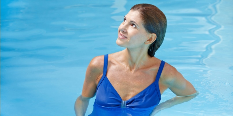 Slimming Necklines For Aquatic Fitness